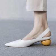 2667.28 руб. 15% СКИДКА|Новая Брендовая женская обувь с острым носком и ремешком на пятке, обувь из натуральной кожи на высоком каблуке, женские туфли лодочки, женская обувь на необычном каблуке-in Женские туфли from Туфли on Aliexpress.com | Alibaba Group