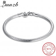 US $19.89 |LMNZB 100% Original 925 Sterling Silver Charm Bracelet Fashion Wedding Jewelry Smooth Snake Bracelets for Women Gift HB001-in Charm Bracelets from Jewelry & Accessories on Aliexpress.com | Alibaba Group