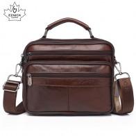 1660.92 руб. 49% СКИДКА|Мужские сумки мессенджеры из натуральной коровьей кожи, деловые сумки через плечо для мужчин, модные сумки с клапаном, однотонная сумка ZZNICK on Aliexpress.com | Alibaba Group