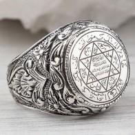 Men's Hip Hop Antique Silver Carved Arabic Pentagram Star Pattern Knuckle Rings Punk Jewelry Rock Cool Masculine Gifts Z4M396-in Rings from Jewelry & Accessories on AliExpress - Anillo, anillo, anillo