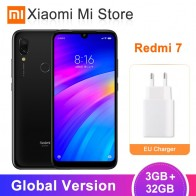 8079.66 руб. 21% СКИДКА|Глобальная версия Xiaomi Redmi 7 Redmi7 3 ГБ 32 ГБ мобильный телефон Восьмиядерный Snapdragon 632 12 МП Двойная камера 6,26