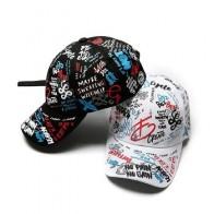 MISSKY, новинка 2019, унисекс, женские и мужские шапки, регулируемые, черно-белые, с принтом граффити, универсальные бейсболки для мужчин и женщин