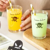 1pc Halloween Skull Print Juice Cup