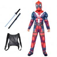 Детские Костюмы супергероев Дэдпула для ролевых игр, комбинезоны с маской, товары для вечерние НКИ на Хэллоуин, костюмы для мальчиков и дево...
