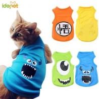 Одежда для кошек, летняя майка для кошек, футболка, одежда для собак и кошек, костюм для маленьких собак, мультяшный жилет для щенка, 35