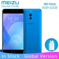 9400.6 руб. |Meizu M6 Примечание 3G RAM 32 ГБ Встроенная память M721H Глобальный Версия Мобильный телефон Snapdragon 625 5,5