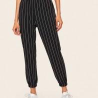 Короткие брюки в полоску c боковыми карманами