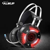 US $27.82 52% OFF|ALWUP A6 Gaming Headphones for Computer PC Games Wired Earphone Led HD Bass USB Gaming Headset for PS4 Xbox one with microphone-in Headphone/Headset from Consumer Electronics on Aliexpress.com | Alibaba Group