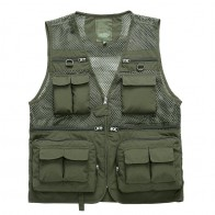 US $12.77 23% OFF|Summer US Fisherman Vest Jacket Director Photographers Clothes Brand Casual Tactical Vest Breathable Multi Pocket Style Vest-in Vests & Waistcoats from Men