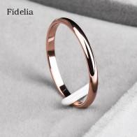 46.35 руб. 49% СКИДКА|Fidelia мм 2 мм титановая сталь триколор комбинированное кольцо простое гладкое модное кольцо для женщины или мужчины свадебный подарок купить на AliExpress
