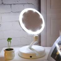 593.66руб. 40% СКИДКА|Abody зеркало для макияжа, светодиодный, с подсветкой, складное косметическое карманное зеркало для макияжа с коробкой для хранения, органайзер, 10х увеличительное зеркало с подсветкой on AliExpress - 11.11_Double 11_Singles