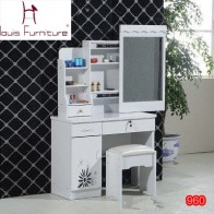 US $159.9 |Fashion  bedroom make up dresser with a mini cabinet and a movable slide mirror-in Dressers from Furniture on Aliexpress.com | Alibaba Group