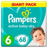 1678.67 руб. |Подгузники Pampers Active Baby Dry 13–18 кг, размер 6, 68 шт.-in Детские подгузники from Мать и ребенок on Aliexpress.com | Alibaba Group