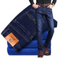 1751.47 руб. 25% СКИДКА|2019 Новые Зимние Синие флисовые теплые фланелевые стрейч джинсы мужские удобные флисовые брюки Size2 8 42 купить на AliExpress
