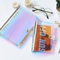 US $6.98 39% OFF|JIANWU 2018 NEW A5 A6 PVC Creative laser binder loose notebook diary loose leaf note book planner office supplies -in Notebooks from Office & School Supplies on Aliexpress.com | Alibaba Group