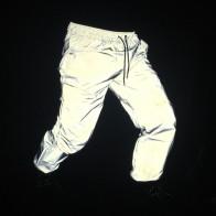 1106.77 руб. 21% СКИДКА|Светоотражающие Брюки для девочек для мужчин 2017 бренд хип хоп танец Флуоресцентные брюки повседневное Harajuku ночь спортивные Jogger купить на AliExpress