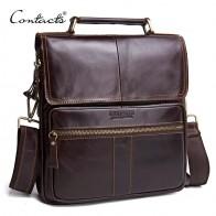 3277.29 руб. 47% СКИДКА|Контакта Повседневное натуральная кожа Для мужчин курьерские Сумки с молнией карман высокое качество сумки на плечо для мужчин мягкие сумки через плечо on Aliexpress.com | Alibaba Group