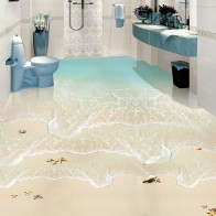 US $14.38 48% OFF|Modern Simple Beach Sea Wave Photo Wall Paper 3D Floor Tiles Murals Sticker Bathroom Waterproof Self Adhesive Vinyl 3D Wallpaper-in Wallpapers from Home Improvement on Aliexpress.com | Alibaba Group