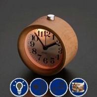 Милые маленькие часы-будильник с ночным освещением, классические круглые бесшумные настольные часы с функцией повтора LXY9 AU07 - Крутые будильники