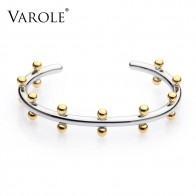 US $14.4 40% OFF|VAROLE Noeud Armband Gold Color Bracelet Manchette Bangles Metal Beads Cuff Bracelets & Bangle For Women Jewelry Pulseiras-in Bangles from Jewelry & Accessories on Aliexpress.com | Alibaba Group