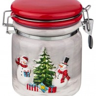 Купить Банка для сыпучих продуктов веселые снеговики 750 мл Lefard (493-772) по низкой цене с доставкой из Яндекс.Маркета - Посуда для праздника