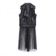 2366.75 руб. 25% СКИДКА|Модное пикантное платье из искусственной кожи + газовое платье больших размеров для женщин-in Женские наборы from Женская одежда on Aliexpress.com | Alibaba Group
