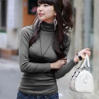 273.43 руб. 7% СКИДКА|Осенняя Женская водолазка из молочного шелка, набивной пуловер, черная рубашка с длинным рукавом, базовая красная водолазка, рубашка, топы-in Футболки from Женская одежда on Aliexpress.com | Alibaba Group