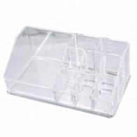 Urijk Plastic Storage Box Makeup Organizer for Jewelry Container Toiletry Organizer Cosmetic Storage Box Holder  17x9.4x6.7cm Clear