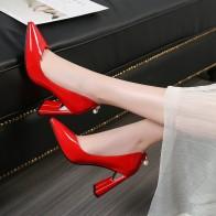 1704.74 руб. 49% СКИДКА|Черные, белые женские туфли на высоком каблуке с острым носком из лакированной кожи, женские туфли лодочки, модные модельные свадебные туфли на блочном каблуке, женские красные, розовые 2019-in Женские туфли from Туфли on Aliexpress.com | Alibaba Group