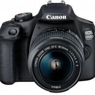 Купить Зеркальный фотоаппарат CANON EOS 2000D kit ( 18-55mm f/3.5-5.6 III),  черный в интернет-магазине СИТИЛИНК, цена на Зеркальный фотоаппарат CANON EOS 2000D kit ( 18-55mm f/3.5-5.6 III),  черный (1133613) - Москва