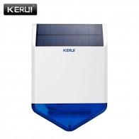 € 49.14 19% de réduction|KERUI nouveau Flash sans fil stroboscope extérieur solaire étanche sirène Alarma pour sans fil GSM système d