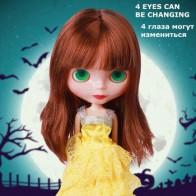 31 см шарнирные куклы BJD, модные куклы Blyth Baby, глаза, 4 цвета, меняющие глаза, макияж для самостоятельного макияжа, телесное тело, кукла для воло... - Куклы