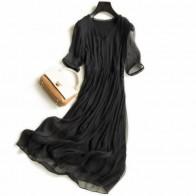 5724.94 руб. 15% СКИДКА|Шелковое платье женское элегантное пляжное длинное черное платье с v образным вырезом Женская высококачественная одежда с принтом Бесплатная доставка хит продаж-in Платья from Женская одежда on Aliexpress.com | Alibaba Group