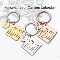 US $1.42 21% OFF|Personalized Calendar Keychain Hand Carved Calendar Highlighted with Heart Date Keyring Stainless Steel Private Custom Brelok-in Key Chains from Jewelry & Accessories on Aliexpress.com | Alibaba Group