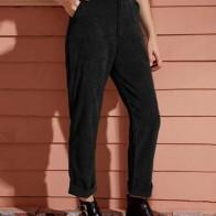 Прямые вельветовые брюки с карманом