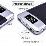 861.32 руб. 11% СКИДКА|Новое поступление 2 USB power bank реальная 10000 mah Внешняя Батарея ЖК дисплей Портативный Мобильный Батарея для зарядки телефона Зарядное устройство случаях Лидер продаж купить на AliExpress