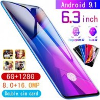 Full new touch screen mobile phone 6.3-inch ultra-thin X23 smartphone face/fingerprint unlock 6GB + 128GB Android dual card support T card @ VOVA
