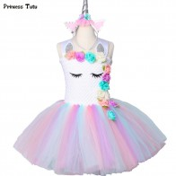 US $14.94 49% OFF|Flower Girls Unicorn Tutu Dress Pastel Rainbow Princess Girls Birthday Party Dress Children Kids Halloween Unicorn Costume 1 14Y-in Dresses from Mother & Kids on Aliexpress.com | Alibaba Group