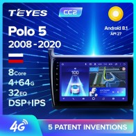 TEYES CC2 For Volkswagen VW polo sedan 2008 2015 Car Radio Multimedia Video Player Navigation GPS Android 8.1 No 2din 2 din dvd
