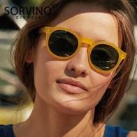 Женские солнцезащитные очки кошачий глаз SORVINO, дизайнерские круглые очки оранжевого и розового цвета в стиле ретро, 90s, SP326 - Трендовые очки