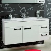 Купить Тумба-умывальник АКВАТОН Диор 120 белый в Ульяновске - Подвесная тумба для ванной