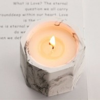 Креативные соевые восковые романтические ароматерапевтические свечи с восьмиугольным кокосовым воском, подсвечник для подарков, домашнег... - Свечи и уют
