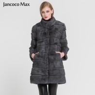 6571.02 руб. 50% СКИДКА|Jancoco Max 2019 новая зимняя теплая меховая куртка с натуральным кроликом мягкое длинное пальто с мехом женское рождественское платье S1675-in Натуральный мех from Женская одежда on Aliexpress.com | Alibaba Group