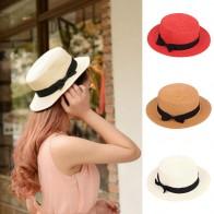 Женщины простым черным бантом сплошной цвет соломенной шляпе дамы Британский стиль элегантной головные уборы – купить по низким ценам в интернет-магазине Joom - Список товаров для путешественников