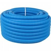Купить Труба гофрированная ПНД, цвет синий, наружным диаметром 32 мм для труб диаметром 25 мм STOUT в Ульяновске - Гофрированные трубы