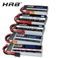 HRB RC 3S lipo батарея 11,1 V 5000mah 6000mah 2600mah 3000mah 3300mah 1800mah 12000mah 22000mah lipo с разъемом Deans для RC автомобилей