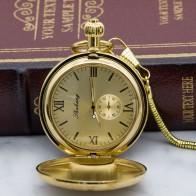 2164.34 руб. 5% СКИДКА|Роскошные золотые Механические карманные часы ожерелье ручной ветер золотые мужские брелоки часы ожерелье часы с цепочкой подарок PJX1318-in Карманные часы from Ручные часы on Aliexpress.com | Alibaba Group