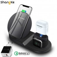 US $19.93 5% OFF Wireless Charger Stand for iPhone AirPods Apple Watch, Charge Dock Station Charger for Apple Watch Series 4/3/2/1 iPhone X 8 XS on Aliexpress.com   Alibaba Group