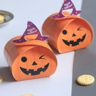 10pcs Halloween Pumpkin Design Package Box