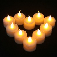 276.19 руб. 12% СКИДКА|12 шт. светодио дный LED короткие свечи без пламени электрический светодио дный желтый свеча окружающей среды свечи домашний декор купить на AliExpress